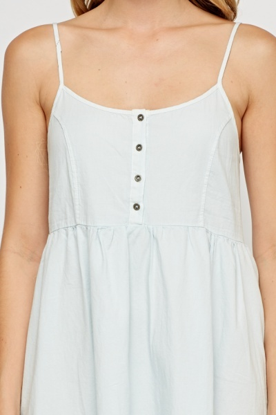 Frayed Light Blue Denim Sun Dress