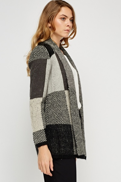 Knitted Patched Casual Cardigan