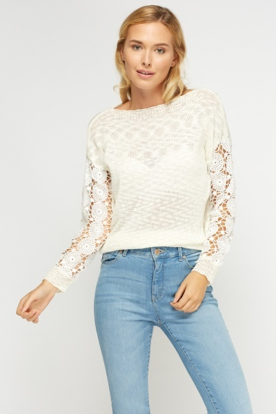 Crochet Sleeve Jumper