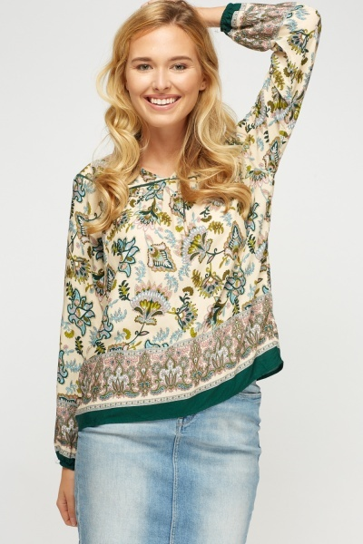 Multi Printed Blouse