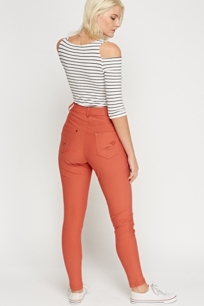Casual Fitted Trousers