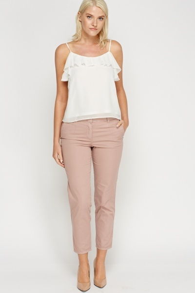 Dusty Pink Casual Trousers