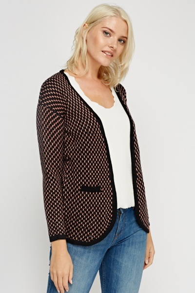 Knitted Textured Cardigan