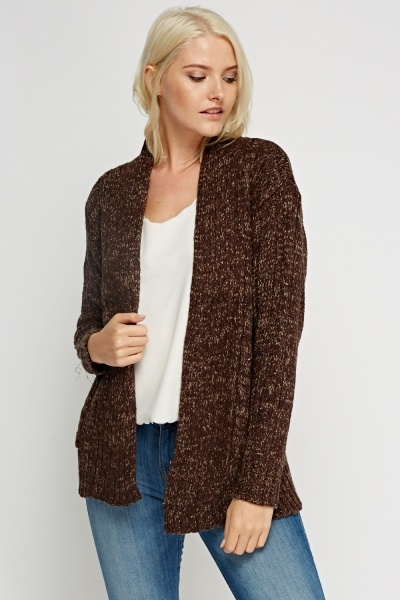 Loose Cable Knit Cardigan
