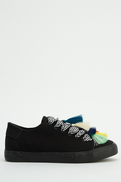 Tasseled Front Lace Up Trainers
