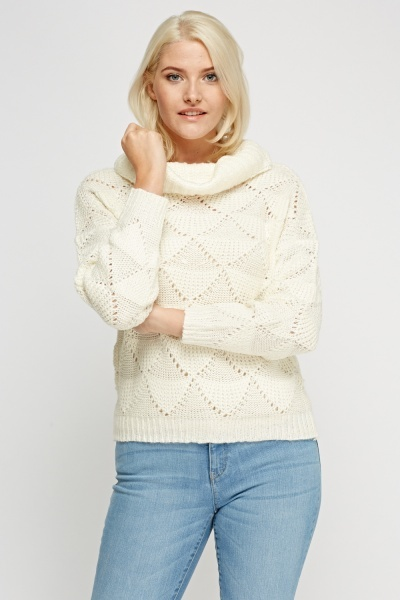 Cowl Neck Knitted Jumper