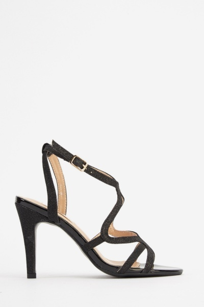 Lurex Heeled Sandals