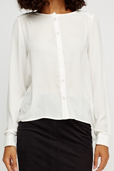 Basic Sheer Blouse
