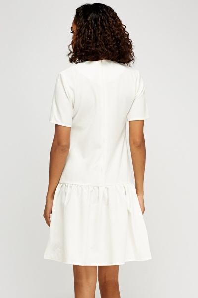 Ruched Hem Textured Dress