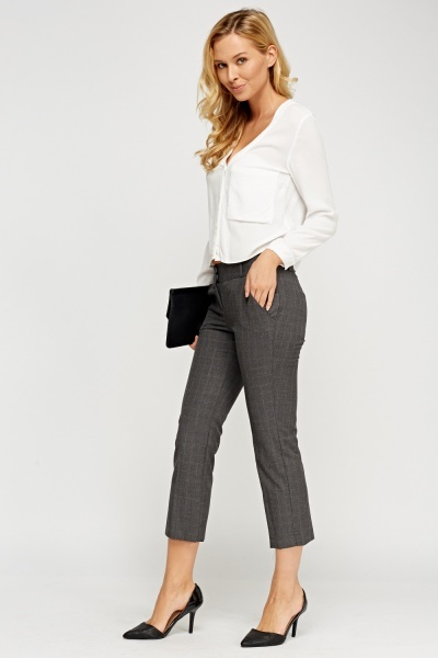 Formal Cropped Trousers