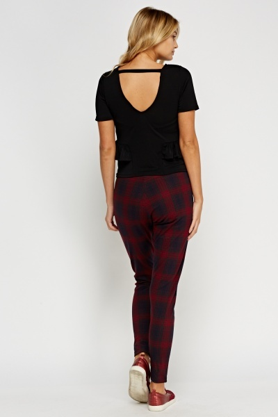Tartan Elasticated Leggings