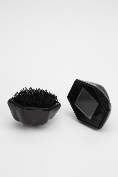 Pack Of 2 Hair Brush And Mirror Set