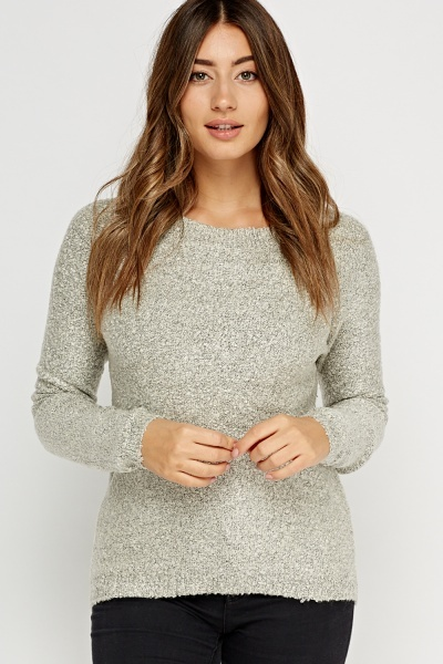 Dip Hem Bobble Knit Jumper