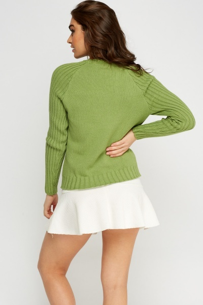 Lacoste Ribbed Trim Knitted Jumper