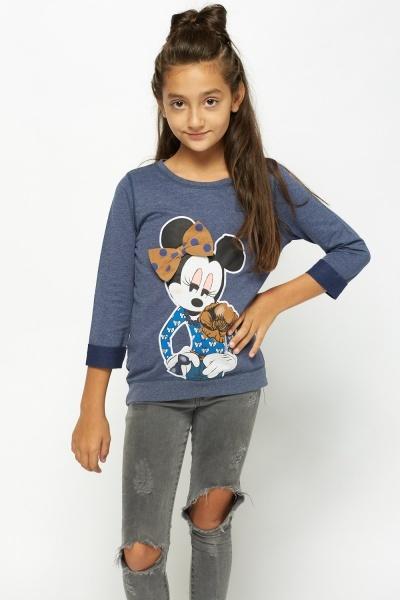 Printed Dip Hem Sweater