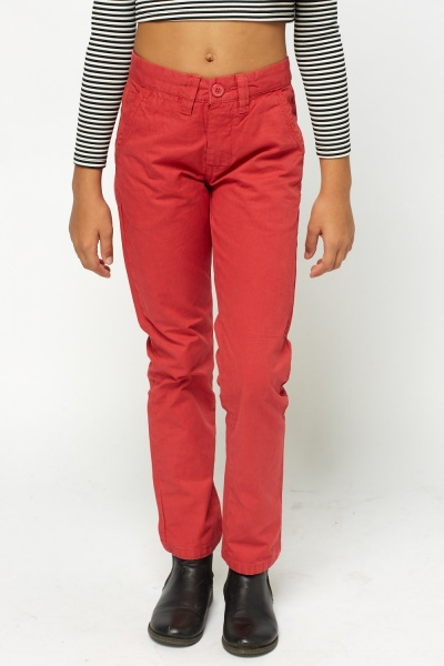 Red Chino Trousers
