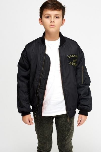 Applique Front Bomber Jacket