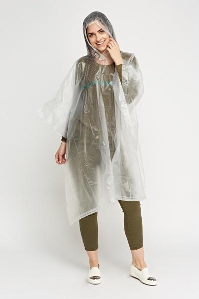 Printed Front PVC Rain Coat