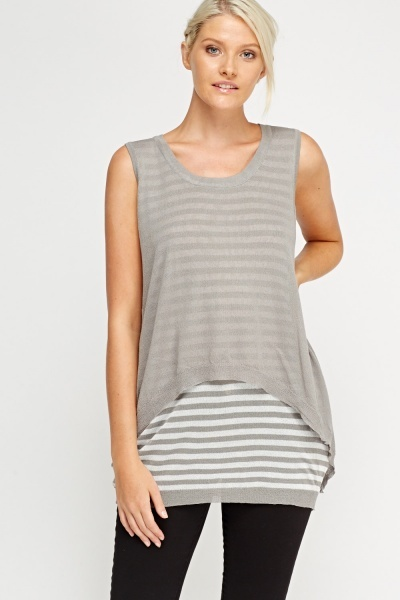 Overlay Contrast Striped Top