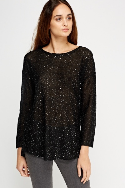 Sequin Thin Knit Jumper