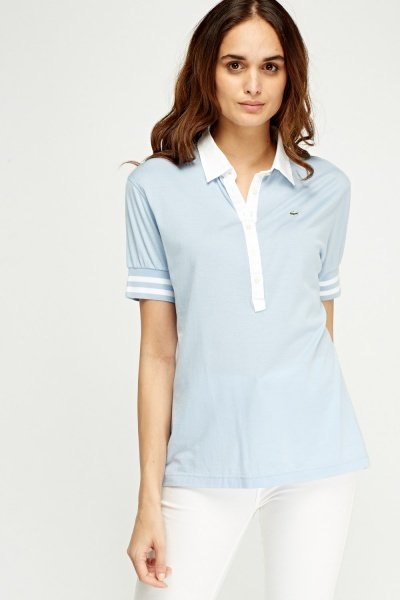 Lacoste Collar Button Neck Polo T-Shirt