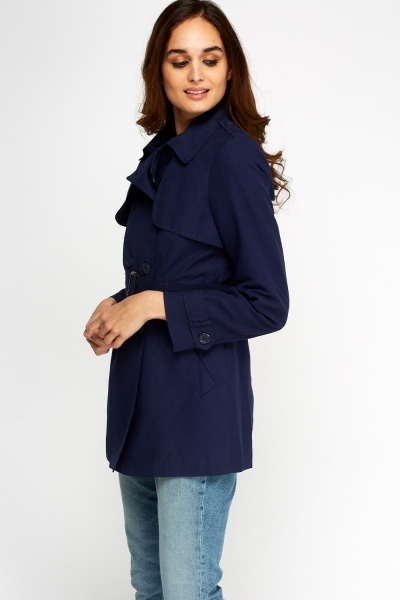 Double Breasted Belted Trench Classic Coat
