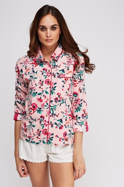 Juicy Couture Blossom Fleece Pyjama Top