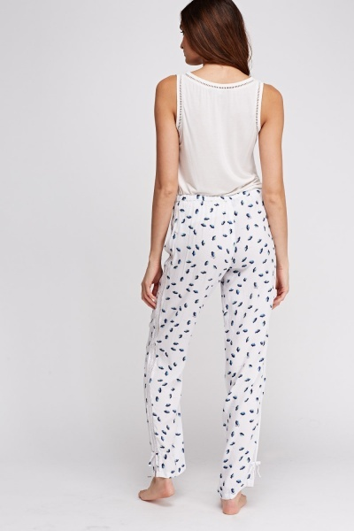 Juicy Couture Flower Printed Pyjama Bottoms