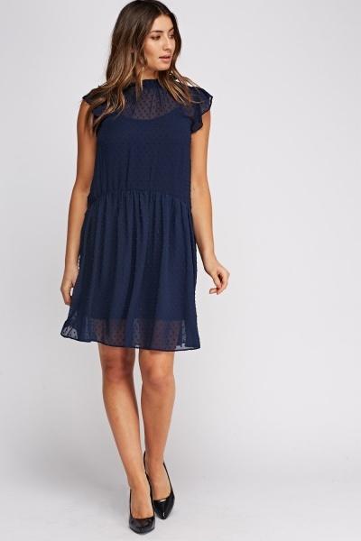 Image of 2 In 1 Mesh Overlay Dress