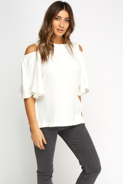 Wide Cold Shoulder Top