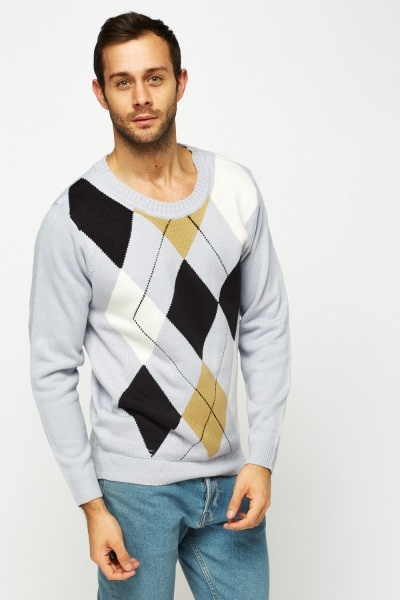 Diamond Knitted Jumper