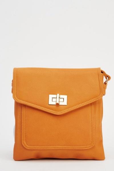 Faux Leather Basic Shoulder Bag