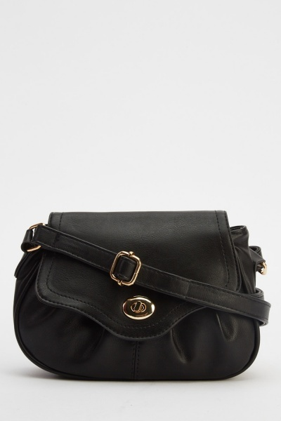 Faux Leather Small Cross Body Bag