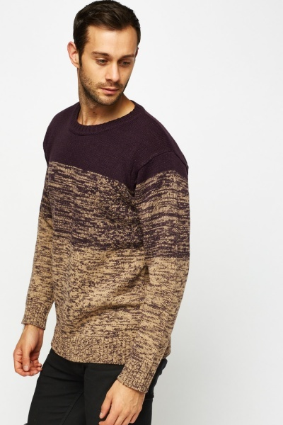 Knitted Speckled Jumper