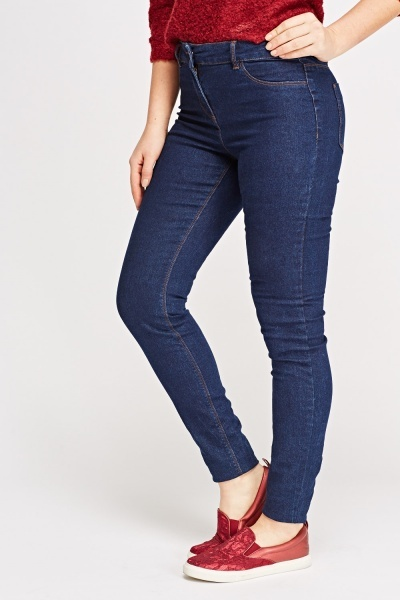 Denim Blue Skinny Leg Jeans