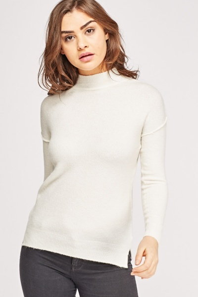 High Neck Thin Knitted Jumper
