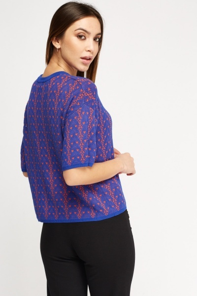 Geo Knitted Top