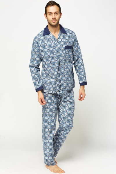 Mix Printed Pyjama Set