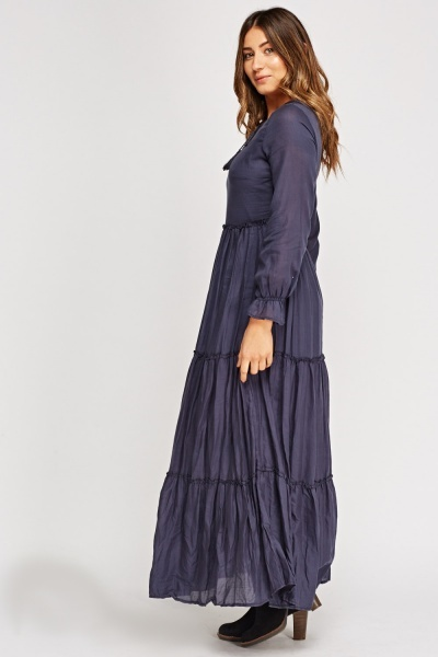Ruched Basic Maxi Dress