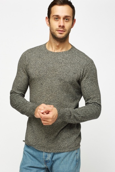 Textured Thin Knitted Sweater