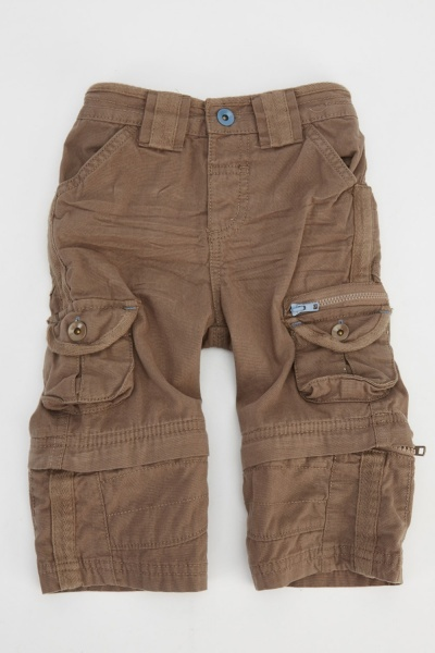 Boys Khaki Combat Trousers