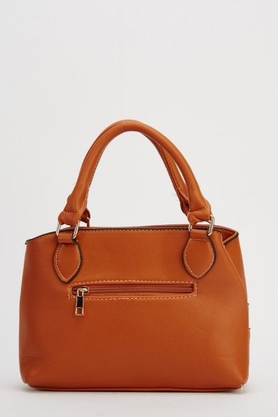 Detail Front Small Faux Leather Bag