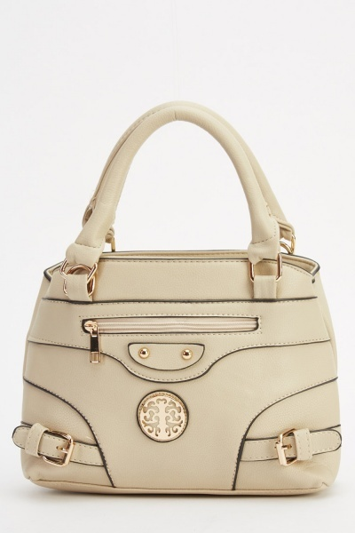 Horizontal Buckle Detail Small Bag