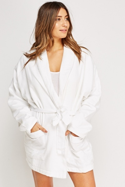 Off White Dressing Gown