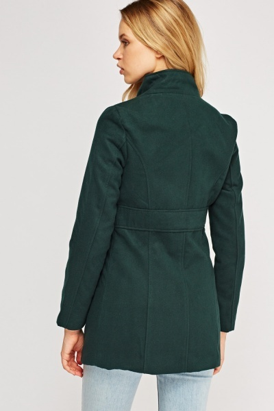 Green Fitted Coat