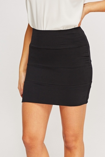 Pack Of 5 Cotton Blend Mini Skirts
