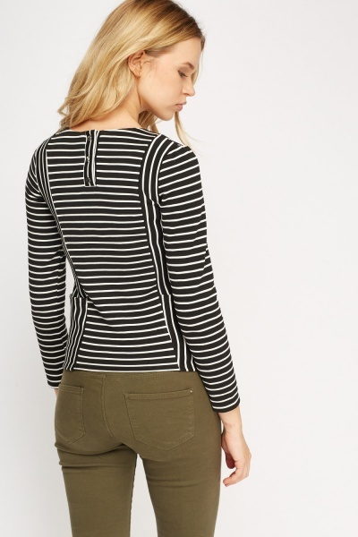 Striped Textured Top
