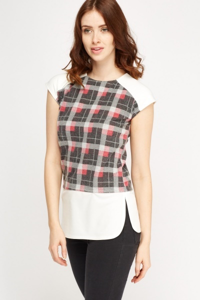 Contrast Checked Top