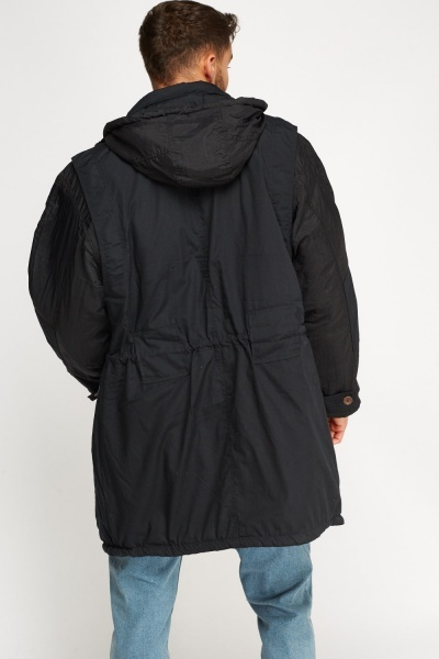 Long Padded Mens Jacket