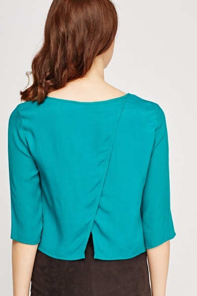 Wrapped Back Basic Top